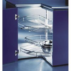 round revolving corner unit with 2 shelves giving ease of access in a difficult corners. Kitchen Cabinets Nz, Kitchen Corner Units, Kitchen Drawers, Kitchen Storage, Kitchen Appliances, Corner Cabinets, Corner Drawers, Drawer Inserts, Lazy Susan