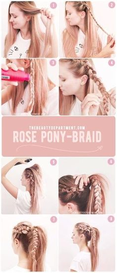 rose pony braid! a perfect 10 minute hairstyle to keep it cute all summer! by cassie