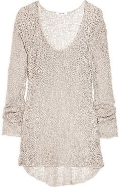 ShopStyle: Helmut Lang Open-knit cotton sweater