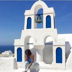 Views from Thíra. @smiley_adventures // Santorini Greece. #travelnoire #santorini