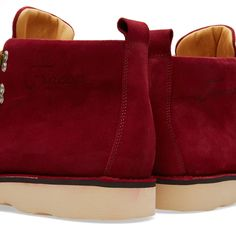 Fracap M120 Natural Vibram Sole Scarponcino Boot (Red)