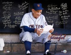 1962 New York Mets  - 1st Mets Manager Tribute - Team Signed 21 Signatures