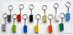 Lego®Keyrings Keychain Multiple Colors Brick by ThinkBricks Lego Party Favors, Lego Gifts, Party Bag Fillers, Lego Brick, Handmade Art, Bricks, Geeks, Boyfriend Gifts, Valentine Gifts