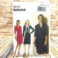 Butterick 6127 Womens Plus Size Collared Dress Sz 14 22 Uncut Sewing Pattern #Butterick