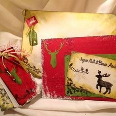 "Carnet,carte et enveloppe""renne de Noël"""