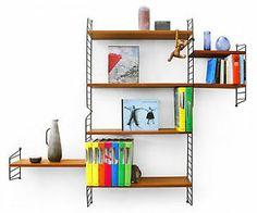 Regalsystem STRING Nisse Strinning Teak 50er 60er wall unit midcentury modern