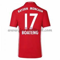 Bundesliga Fussball Trikots Bayern Munich 2016-17 Boateng 17 Heimtrikot Kurzarm
