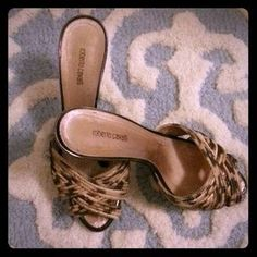 I just discovered this while shopping on Poshmark: Roberto Cavalli Heels. Check it out!  Size: 6.5, 7-8