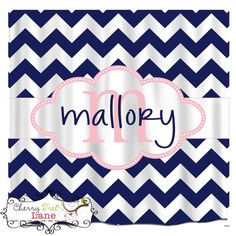 Chevron Bathroom Curtain  69x70 Personalized by TheSassyMonogram, $78.00