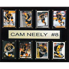 NHL 12x15 Cam Neely Boston Bruins 8 Card Plaque