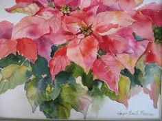 Image result for watercolor poinsettia