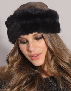 So warm and so cute! fur headband