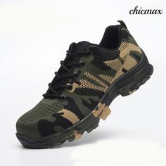 fcb1b0d84eee8a Safety Steel Toe Shoes Men Waterproof Work Shoe Labor Insurance Puncture  Proof Sneakers Mens Military Army