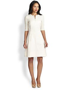 "Part of my ""when I win the lottery"" dream closet :) Love the simplicity! Akris Punto Stretch Cotton Knit Dress"