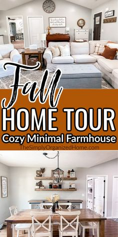Come take a peek at our fall home tour! Our 2020 farmhouse style fall home tour is both cozy and minimal at the same time! We love our home to be simply decorated, but with lots of fall, cozy touches. We also love the farmhouse-style, but without the cluttered feel it can sometimes create. So we've dubbed our style cozy minimal farmhouse! Life Organization, Organizing, How To Use Planner, Farmhouse Style, Farmhouse Decor, Home Management, Autumn Home, Spring Cleaning, Frugal Living