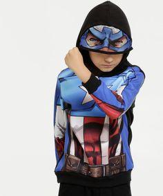Blusa Moletom Agasalho Casaco Frio herói Capitão América 16