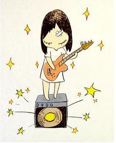 Satomi from Deerhoof? // Yoshitomo Nara