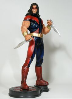 Warpath statue Sculpted by: Randy Bowen  Release Date: November 2012  14 tall overall