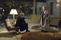 Daniel Craig sits on a Barcelona Chair (designed by Mies Van de Rohe) in Casino Royale (from our feature 'From Iron Man to Mad Men: we discuss furniture in films and Scandinavian design with Skandium') White Desk Chair, 007 Casino Royale, Bauhaus Furniture, James Bond Style, Empire, Interior Styling, Interior Design, Retro Office, Beige Marble