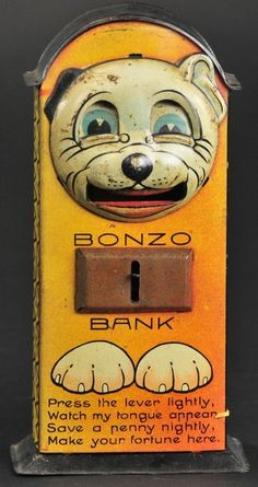 www.liveauctioneers.com item 31120198_bonzo-with-verse-tin-mechanical-bank