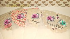Lawn Fawn - Bugs and Kisses + coordinating dies _ Valentine's treat bag toppers by Tara via Flickr - Photo Sharing!