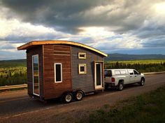Being so well insulated, the Leaf House doesn't need a lot of heating; it has two radiant electric panels totalling only 800 watts (like a hair dryer on low). The whole 97 sq ft house can operate on less than 15 amps, what you get in one circuit through an extension cord. Impressive. | Tiny Homes