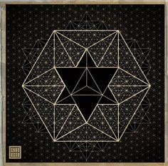 Star tetrahedron, Merkabah, Vector, Geometry - decah
