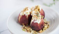 Fresh Figs Stuffed with Rosemary Labneh and Pistachios | Good Chef Bad Chef
