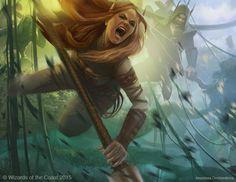 Tajuru Warcaller - Battle for Zendikar MtG Art