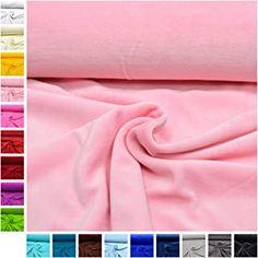 MAGAM-Stoffe Stella Nicki Stoff Uni Oeko-Tex Meterware 50cm (04. Rosa) -  - 5.0 von 5 Sternen - DIY Stoffe und so Uni, Pink, Fabrics
