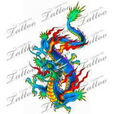 Marketplace Tattoo Dragon #2889   CreateMyTattoo.com
