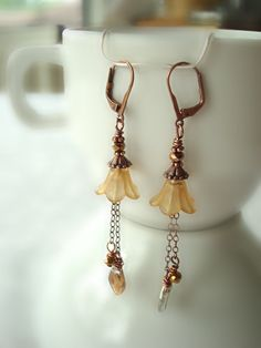 Mother's Day Lucite Copper Earrings in by SonseraeDesigns on Etsy, $18.00