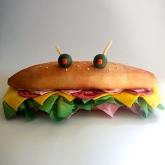 sub sandwich puppet for Table Fables puppet show