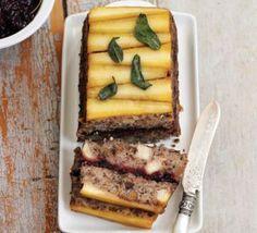 Parsnip, cranberry & chestnut loaf; vegetarian main for Christmas