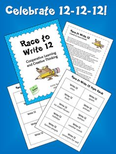 Corkboard Connections: Celebrate 12-12-12 with Race to Write 12