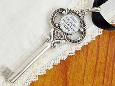 THE SECRET GARDEN Key Necklace - Literary Jewelry