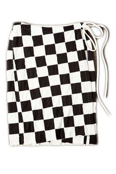 Alabama Chanin Small Block Wrap Skirt, $780; alabamachanin.com
