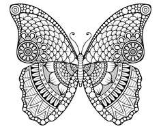 målarbild, målarbilder, gratis, gratis målarbild, barn, målarbild för barn, målarbilder för barn, färglägga, zentangle, mandala, fylla i, fylla-i-bild, fjäril, insekt, ornament, ornamentik