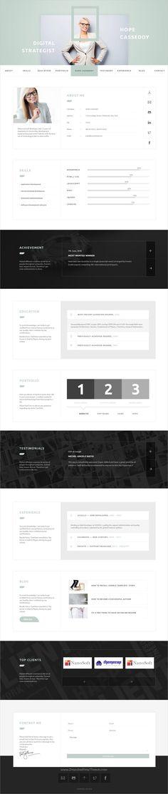 Pancaro - Personal Resume  CV WP Theme Resume cv and Portfolio