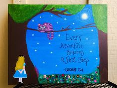 Alice in Wonderland Canvas Painting