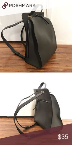 Zara crossbody backpack Zara backpack that can also be worn as a shoulder bag if you pull the straps through the loop. It no longer has the colorful pompom like in the retail photo but is in good condition. Zara Bags Backpacks