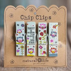 These are so handy and also adorable! I love owls! Family Crazy Love Chip Clips From Natural Life #naturallife #pinittowinit #pinhappy