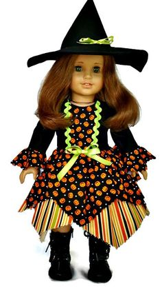 American Girl Halloween costume, fits American Girl and similar 18 inch dolls…
