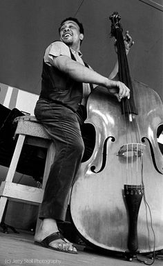 Charles Mingus at the Monterey Jazz Festival, 1964. Photo: Jerry Stoll
