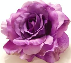 So need this beautiful rose for my hair!!  Radiant Orchid Large Purple to Lavender Rose by MyFairyJewelry, $20.00