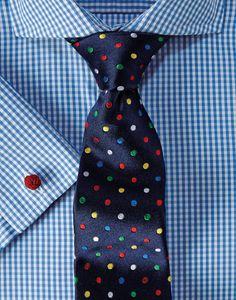 Get latest Blue Gingham Cutaway Collar Shirt