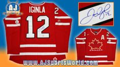 JAROME IGINLA 2010 Olympic Games SIGNED Team Canada Hockey JERSEY . $493.05. This is an official licensed SIGNED Jarome Iginla Olympic Team Canada jersey. The jersey is brand new with all of the lettering and numbering professionally sewn on. The player has beautifully signed the number. To protect your investment, a Certificate Of Authenticity and tamper evident hologram from A.J. Sports World is included with your purchase.
