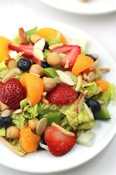 Napa Summer Salad   This Silly Girls Life   loaded with fresh fruits of the summer.
