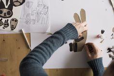 The Creative and Colorful Desks of Children's Book Illustrators Chris_Haughton_005