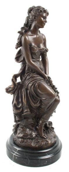 Hot Cast Bronze Lady Sculpture On Marble Base LE REVE Hippolyte-Francois Moreau: Amazon.co.uk: Kitchen & Home